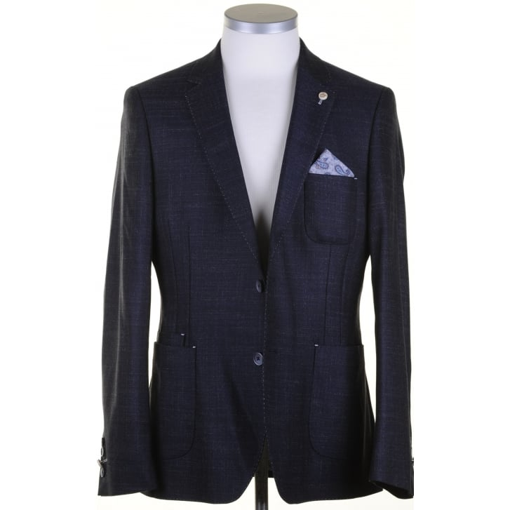 GUIDE Navy Light Weight Single Breasted Jacket