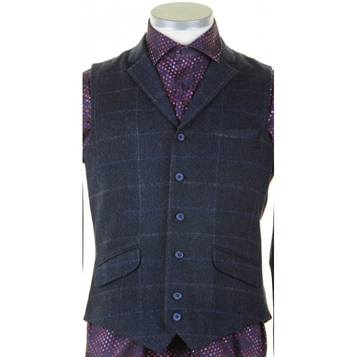 GUIDE Tailored Fit Navy Waistcoat