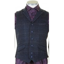 Tailored Fit Navy Waistcoat
