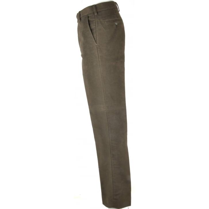 GURTEEN Classic Cut Cotton Moleskins with Slant Side Pockets
