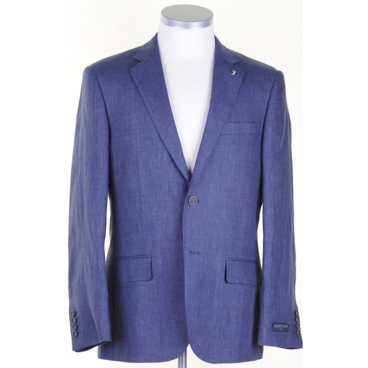 GURTEEN Half Lined Linen Jacket in Blue or Stone