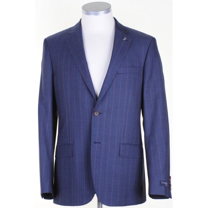 GURTEEN Light Weight Blue Blazer with a Lilac Stripe