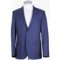 Light Weight Blue Blazer with a Lilac Stripe