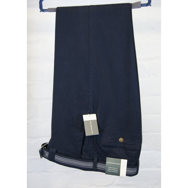 GURTEEN Stretch Cotton Chino with Stretch Waistband and Belt