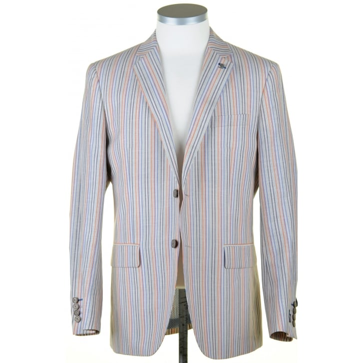 GURTEEN Summer Striped Jacket in a Linen Mix