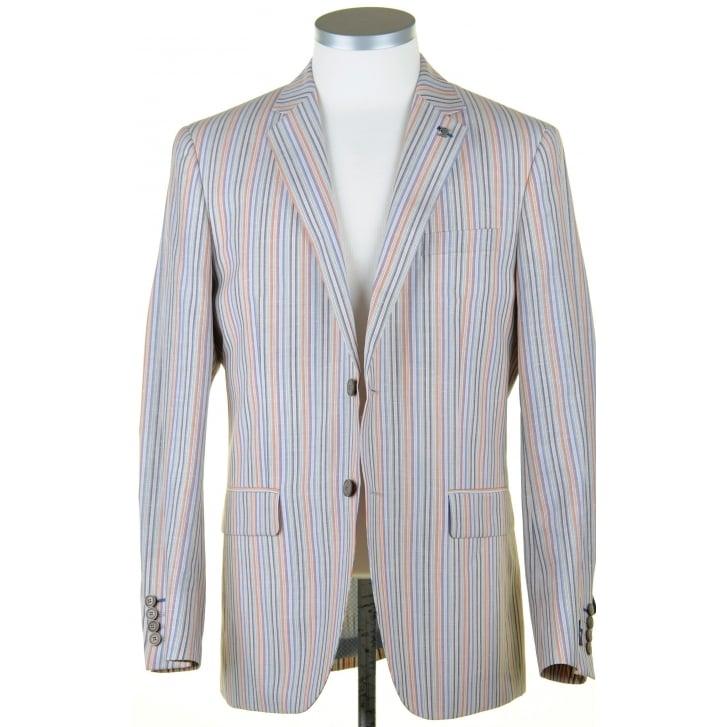 GURTEEN Summer Striped Jacket in a Linen Mix