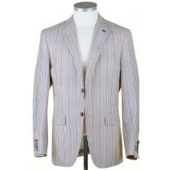 Summer Striped Jacket in a Linen Mix