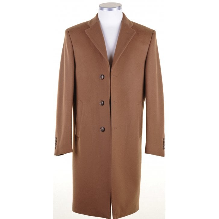 Single Breasted Camel Overcoat