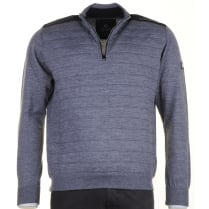 Italian 1/4 Zip Grey Sweater