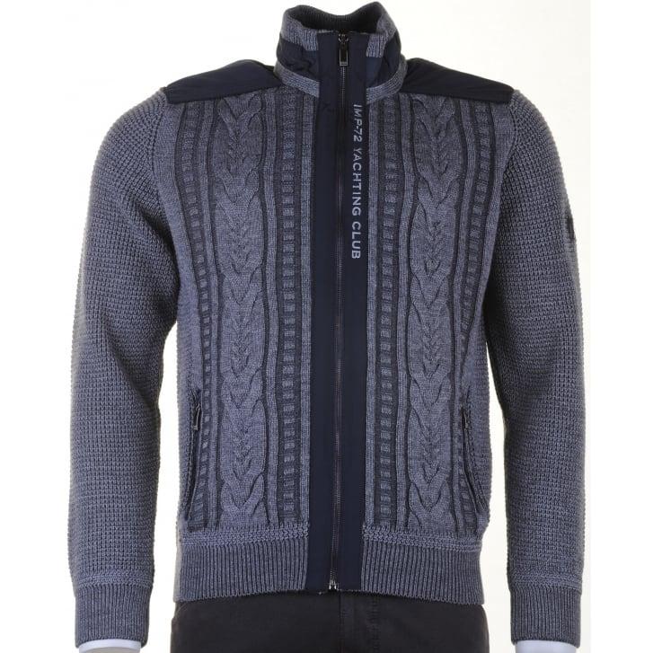 IMPULSO Italian Grey Knitted Cardigan
