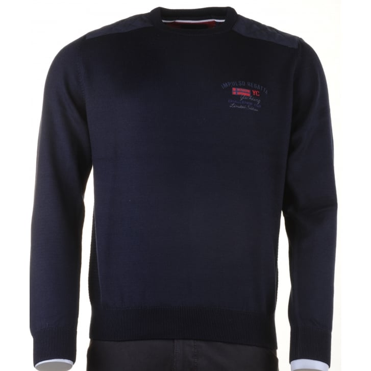 IMPULSO Italian Navy Crew Neck Sweater