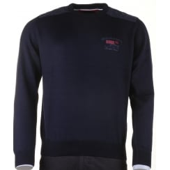 Italian Navy Crew Neck Sweater