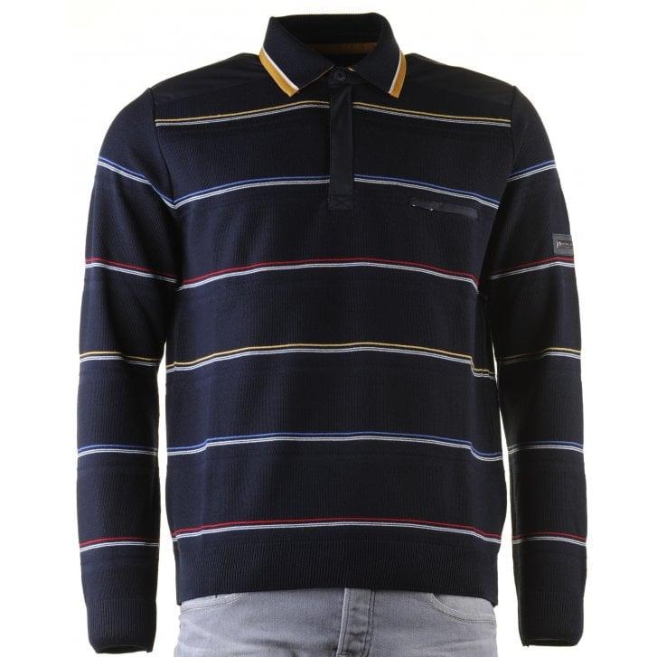 IMPULSO Italian Water Repellant Striped 1/4 Zip Sweater