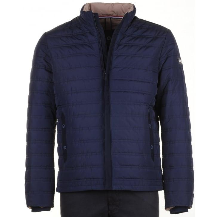 IMPULSO Navy Zipped Padded Jacket