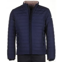Navy Zipped Padded Jacket