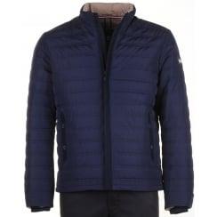 Navy Zipped Padded Jacket