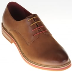 Mens Laced Shoe in Brown Nubuck