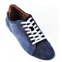 Navy Casual Suede Shoe
