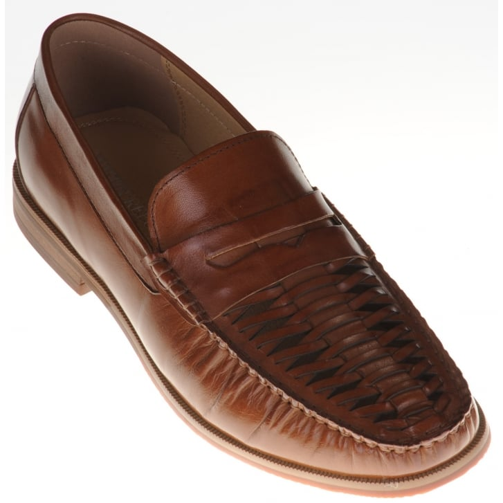 JUSTIN REECE Open Weave Tan Slip On Shoe