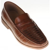 Open Weave Tan Slip On Shoe