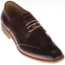 Stylish Wine Leather Shoes