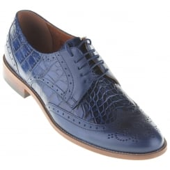 Blue Brogues with Snake Effect Inserts