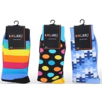 Fancy Cotton Socks with Smooth Toe Seams