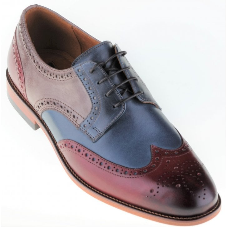 LACUZZO Leather Tri Colour Brogue Shoe