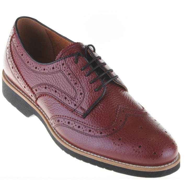 LACUZZO Light Weight Wine Brogue Laced Shoe