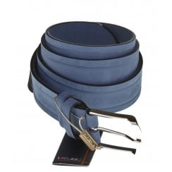Mens Nubuck Leather Belt in Brown or Blue
