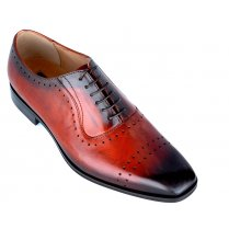 Modern Brogue in graded Shades of Copper