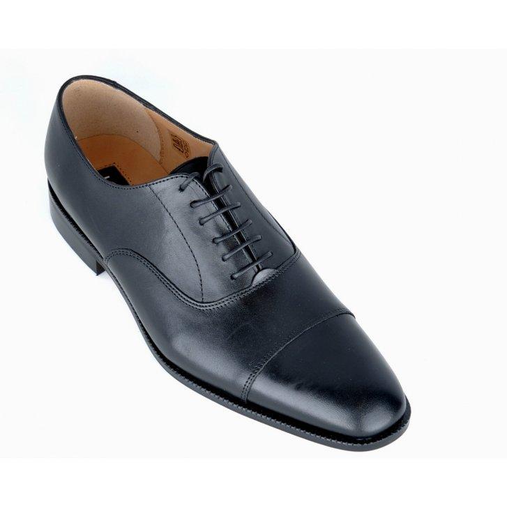 LACUZZO Stylish Black Toe Capped Shoe