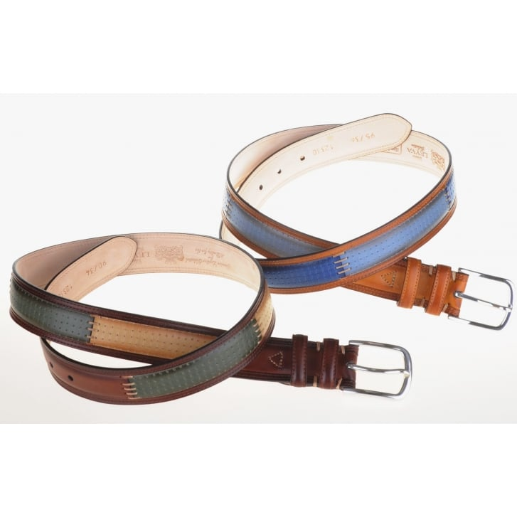 LEYVA Luxury Leather Patched Belts