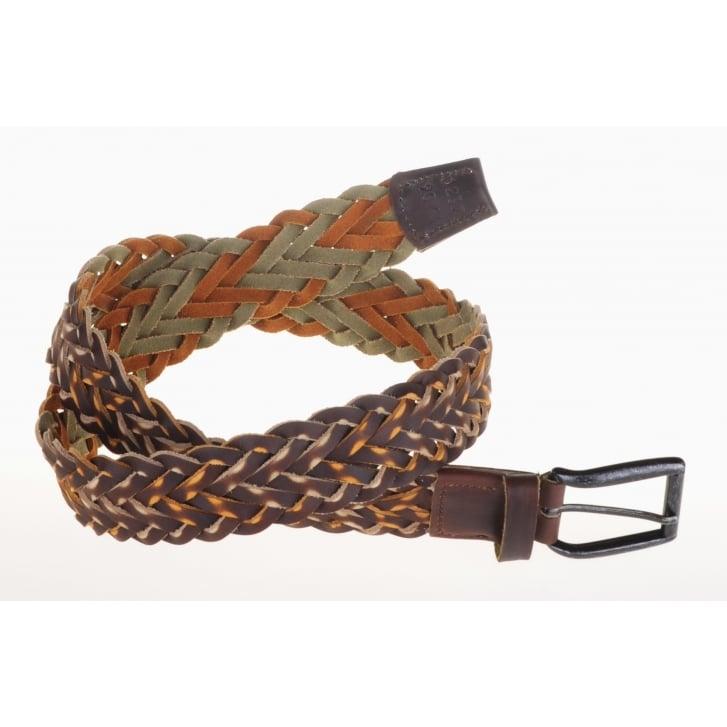 LEYVA Luxury Platted Leather Brown Belt