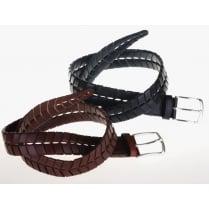 Stylish Black or Brown Leather Belt