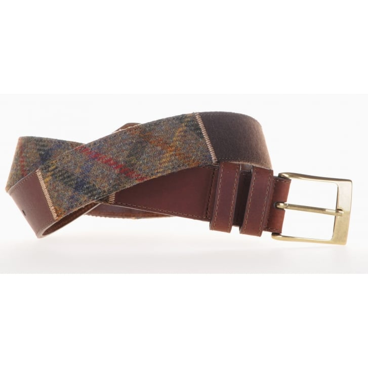 LEYVA Tweed and Leather Spanish Brown Belt