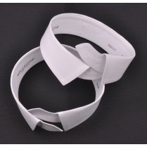 Two White Cotton Stiff Albany Collar