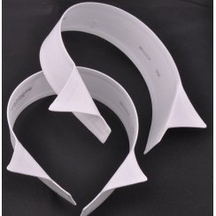 Two White Cotton Stiff Wing Collars