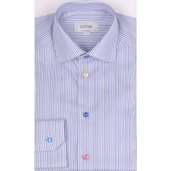 Luxury Cotton Multi Striped Long Sleeved Shirt