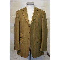 Mens Brown Tweed Thee Button Centre Vent Hacking Jacket