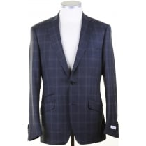Mens Two Piece Reda Cloth Suit with Overcheck