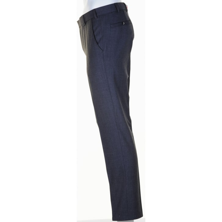 MEYER Classic Stretch Worsted Trousers in Navy or Grey in Roma Style