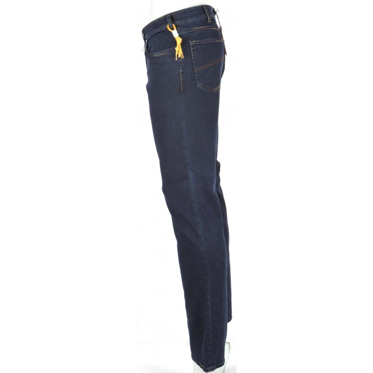 MEYER Contemporary Slim MMX Cotton Stretch Jeans in Blue or Navy