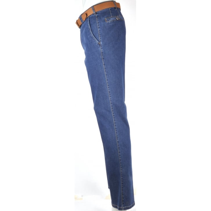 MEYER Cotton Stretch Denim in a Trouser Style