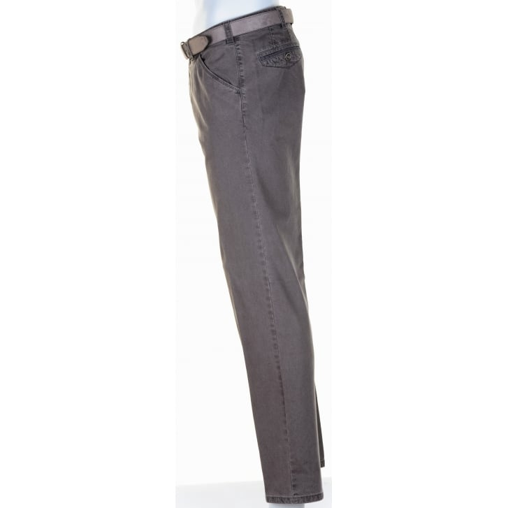 MEYER Cotton Stretch Textured Chino in Taupe