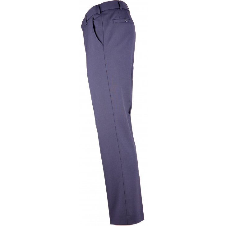 MEYER Poly/wool Stretch Plain Trouser in Navy, Grey and Black