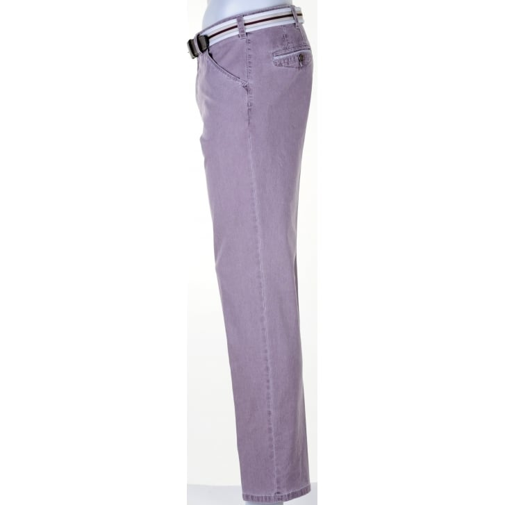 MEYER Ribbed Cotton Chicago Style Chino in Blue, Lilac or Beige