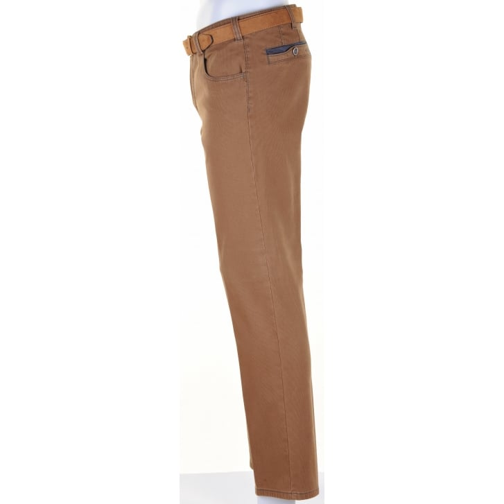 MEYER Stretch Cotton Fine Cord Effect Chino in Diego Style