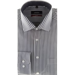Navy and White Bengal Stripe Cotton Shirt