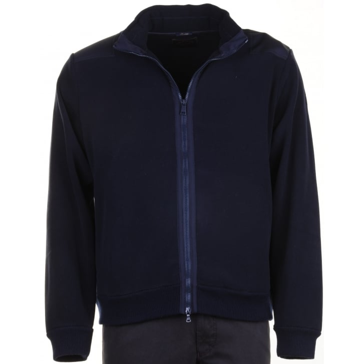 PAUL & SHARK Navy Fleece Blouson with Hood P1410